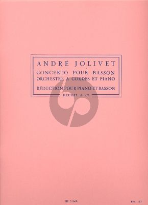 Jolivet Concert Basson et Orchestre a Cordes (piano reduction)