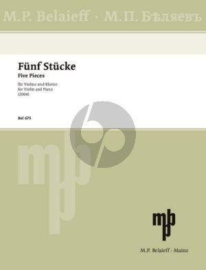Silvestrov 5 Stücke (aus Melodien der Augenblicke) Violine-Klavier