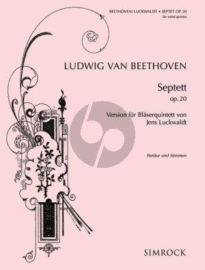 Beethoven Septet E-flat major Op.20 Woodwind Quintet (Score/Parts) (Luckwaldt)