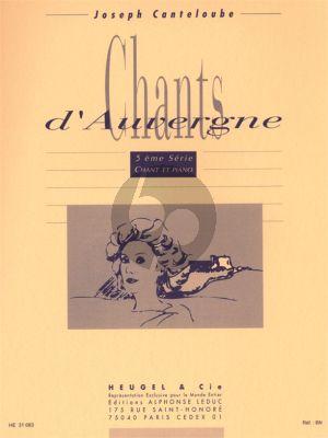 Canteloube Chants d'Auvergne Serie 5 (Chant-Piano)