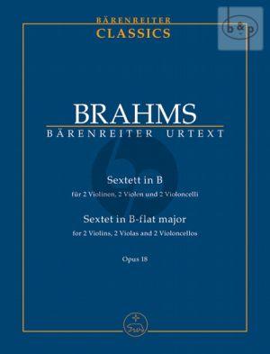 Sextet B-flat major Op.18 (2 Vi.- 2 Va.- 2 Vc.) (Study Score)