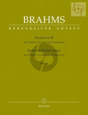 Sextet B-flat major Op.18 (2 Vi.- 2 Va.- 2 Vc.) (Parts)
