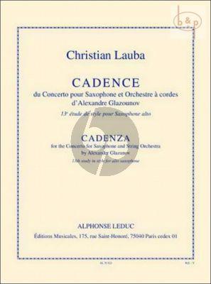 Cadenca to Glazunov Saxophone Concerto