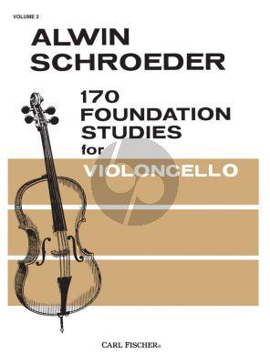 Schroeder 170 Foundation Studies for Cello Vol.2 (No.81 - 137) (edited by Richard Hughey)