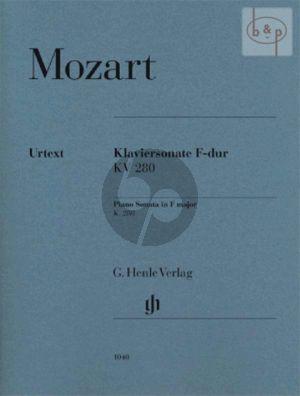 Sonata F-major KV 280 (edited by Ernst Herttrich)