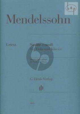 Sonata c-minor (MWV Q14) Viola und Klavier