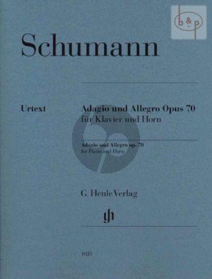 Adagio & Allegro Op.70 (Horn[F]-Piano) (edited by Ernst Herttrich)