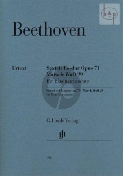 Sextett Es-dur Op.71 mit Marsch WoO 29 (2 Clar.[Bb]- 2 Bassoons- 2 Horns[Eb/F])