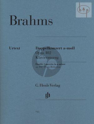 Double Concerto a-minor Op.102 (Vi.-Vc.-Orch.) (piano red.)