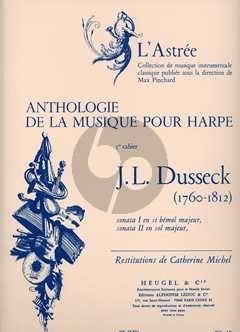 Dussek 2 Sonates pour Harpe (Anthologie de la Musique pour Harpe Vol.1) (Catherine Michel)