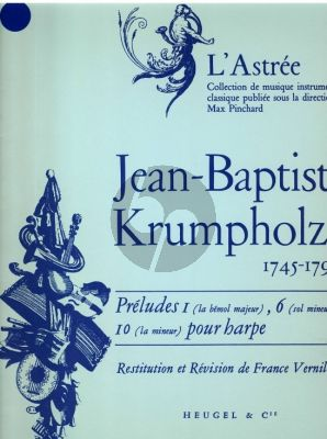 Krumpholtz Preludes Op. 2 No.1 - 6 - 10 Harpe (France Vernillat)