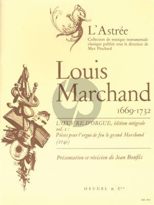 Marchand L'Oeuvre d'Orgue Vol.1 (edited Jean Bonfils)