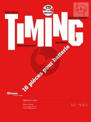Timing (16 Pieces from different Composers) (Percussion) (Bk-Cd)