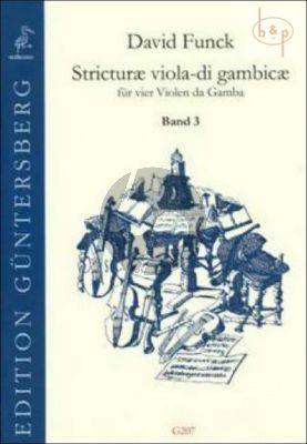 Stricturae Viola di Gambicae Vol.3 (Stucke 33 - 43) (4 Violas da Gamba)