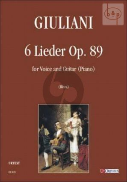 6 Lieder op.89 (Voice-Guitar[Piano])
