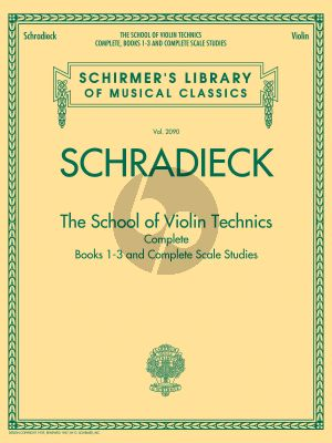 Schradieck School of Violin Technics (complete edition)