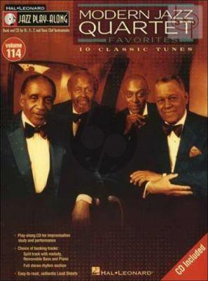 Modern Jazz Quartet Favorites (Jazz Play-Along Series Vol.114) (all C-Bb-Eb and Bass Clef Instr.)