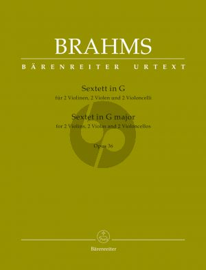 Brahms Sextet G-major Op.36 2 Vi.- 2 Va.- 2 Vc. (Parts) (Parts) (edited by Chr.Hogwood)