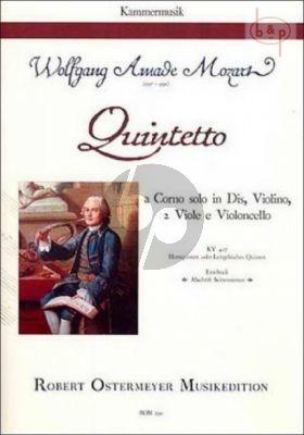 Quintet E-flat major KV 407 (Horn-Vi.- 2 Va.-Vc.)