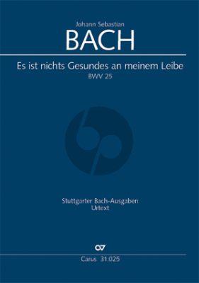 Bach Kantate BWV 25 Es ist nichts Gesundes an meinem Leibe (KA) (deutsch/englisch)