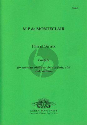 Monteclair Pan and Syrinx (Cantata) (Sopr.-Violin[Ob./Fl.]- Viol-Bc) Score/Parts (edited by Cedric Lee)