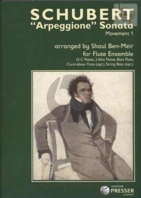 Sonata Arpeggione (Movement 1) (Flute Ens.) (5 Fl.in C- 2 Alto Fl.-Bass Fl.)