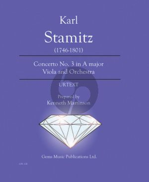 Stamitz Concerto No. 3 in A major Viola - Orchestra Score - Parts (Prepared and Edited by Kenneth Martinson) (Urtext)