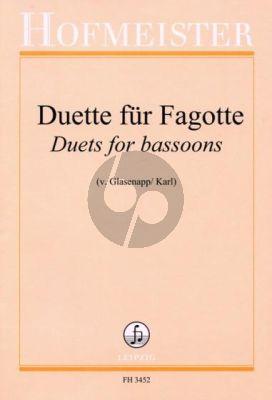 Duette fur 2 Fagotten (ed. Karl von Glasenapp)