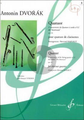 Quatuor (3rd. Mov. from String Quartet Op.96) (Score/Parts) (arr. Betrand Hainaut)