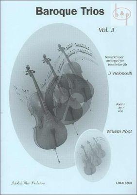Baroque Trios Vol.3 3 Cello's
