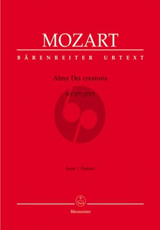 Mozart Alma Dei Creatoris KV 277 (272a) SAT Soli-SATB- 3 Tromb.-2 Vi.-Bc Partitur