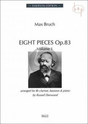 8 Pieces Op.83 Vol.1 (Clar.[Bb]-Bassoon-Piano)