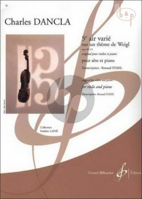 Air Varie d'apres un theme de Weigl Op.89 No.5 (orig. Violin) (transcr. Renaud Stahl)