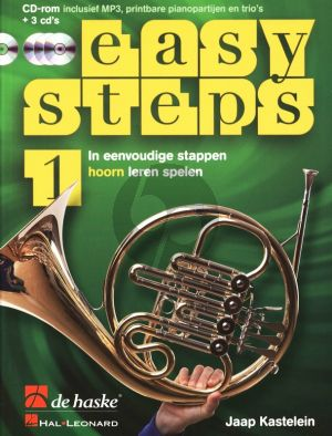 Kastelein Easy Steps Vol.1 Hoorn in F (Bk- 3 CD's-DVD-Rom)