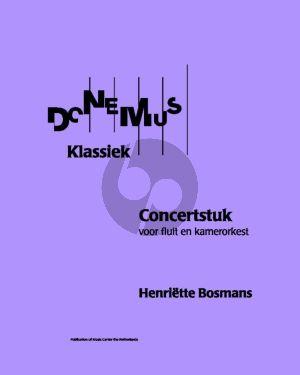 Bosmans Konzertstuck Fluit en kamerorkest Partituur (1929)