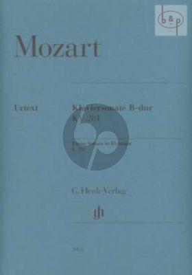 Sonata B-flat major KV 281 (189f) (edited by Ernst Herttrich)
