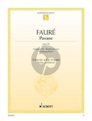 Faure Pavane Op.50 Violin and Piano (arr. Wolfgang Birtel)