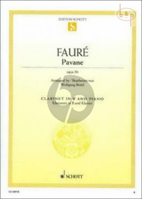 Pavane Op.50 for Clarinet and Piano