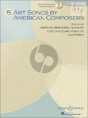 15 Art Songs by American Composers (High Voice)