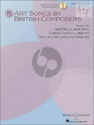 15 Art Songs by British Composers (Low Voice)