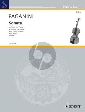 Paganini Sonata Op.posthume Violin-Piano (ed. Fritz Meyer)