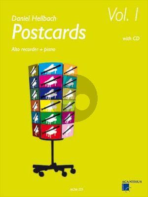 Hellbach Postcards Vol.1 (Altblockfl.-Klavier) (Bk-Cd)