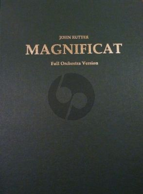 Rutter Magnificat Version for Orchestra Full Score (Hardcover)