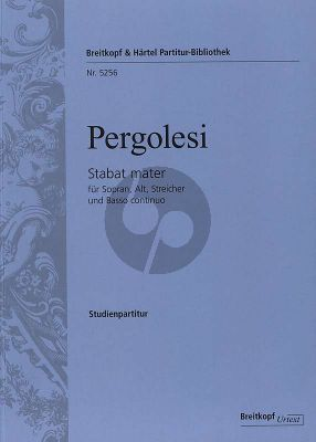 Pergolesi Stabat Mater Soprano-Alto-Strings-Bc Study Score (edited by Helmut Hucke)