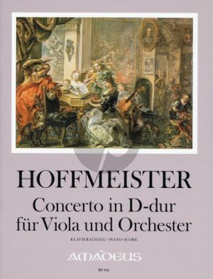 Hoffmeister Concerto D-major Viola-Orch. (piano red. by Winfried Michel) (edited by Yvonne Morgan)