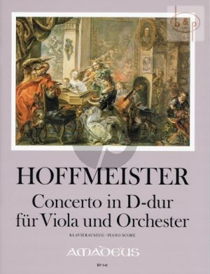 Hoffmeister Concerto D-major Viola-Orchestra Full Score (edited by Yvonne Morgan)