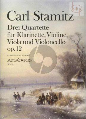 3 Quartette Op.12 (Clar.[Bb][Vi.]-Vi.-Va.-Vc.)