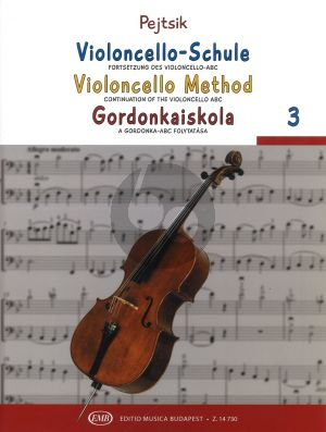 Violoncello Method Vol.3 (with Piano Accomp.) (hun./germ./engl.)