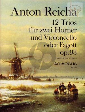 12 Trios Op.93 (2 Horns[Eb]-Violonc.[Bsn.])