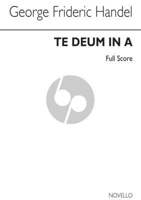 Handel Te Deum A-major HWV 282 ATB soli-SATB-Orchestra (Full Score) (Donald Burrows)
